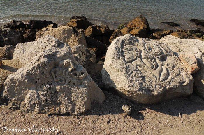 Aztec signs in Balchik