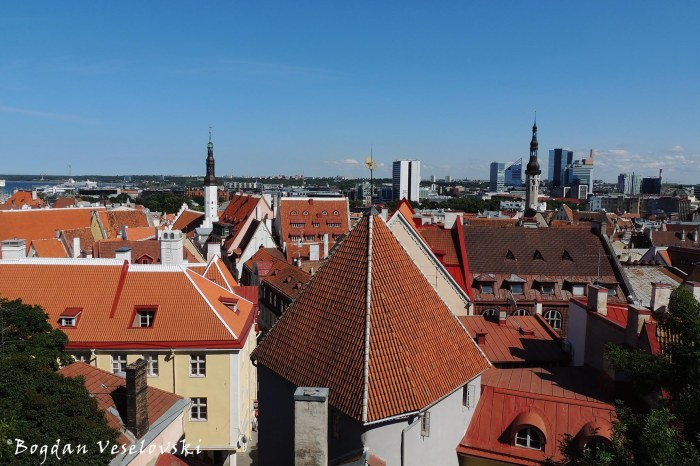 View of Tallinn Old City