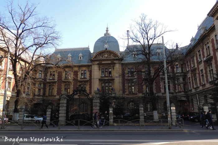 4, Carol I Blvd. - Palatul Ministerului Agriculturii (Palace of the Ministry of Agriculture, arch. Louis Pierre Blanc, French Renaissance style)