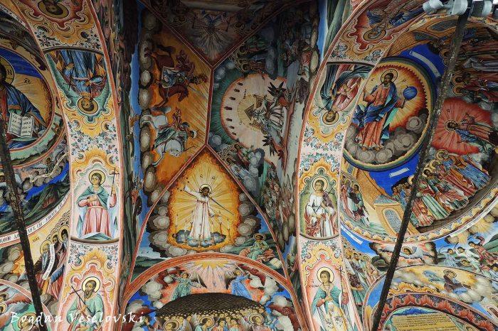 Detail of fresco, Rila Monastery