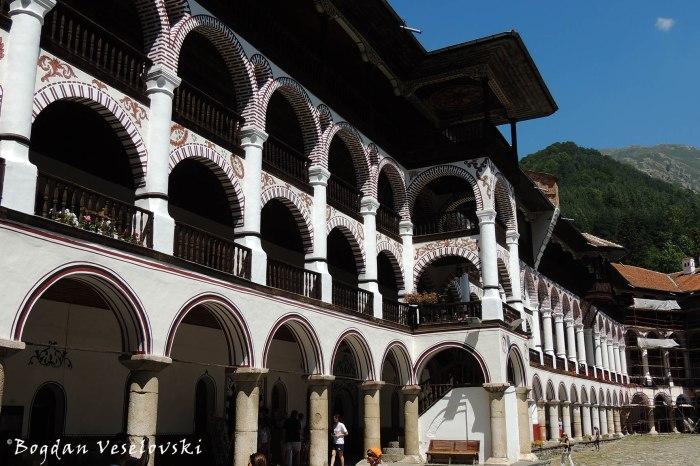 Rila Monastery - outer corridors