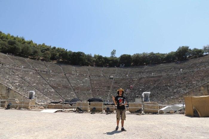 The ancient theatre of Epidaurus (Ἐπίδαυρος)