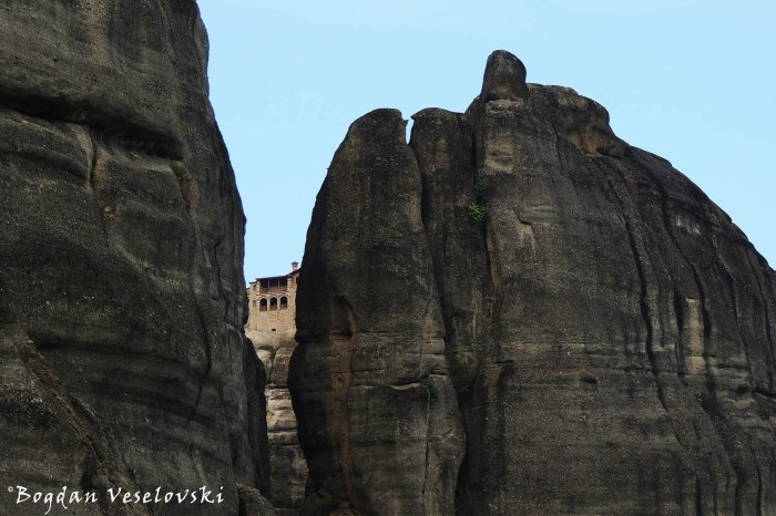 The Holy Monastery of Varlaam seen from Mon. of St. Nicholas