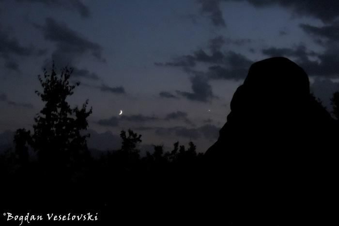 Meteora in the night