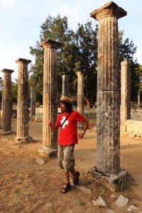 Palaestra's columns at Olympia