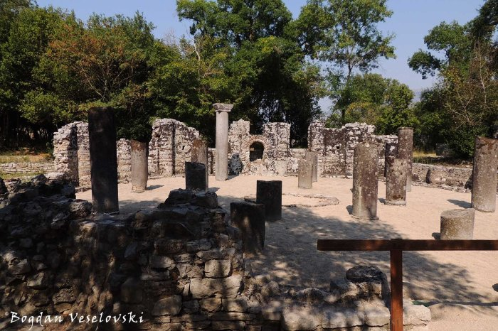 Remains of the 6th-century baptistery, Butrint