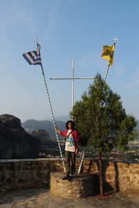 Flags at the Holy Monastery of Roussanou