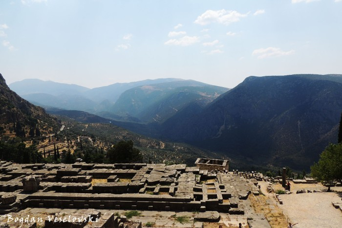 Temple of Apollo & Delphi valley