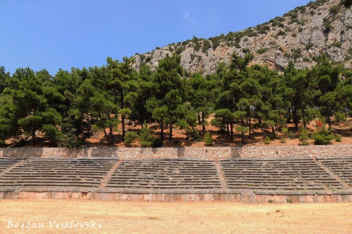 Stadium of the Delphi sanctuary, used for the Pythian Games