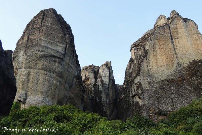 Meteora cliffs