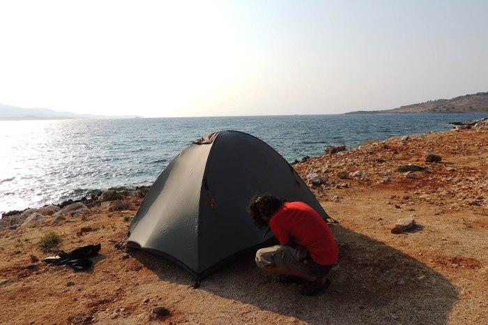 Camping in Ksamil