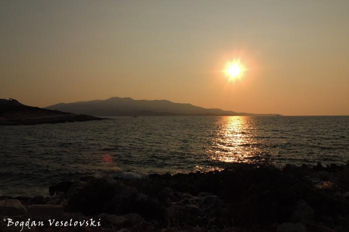 Ionian Sea sunset, Ksamil