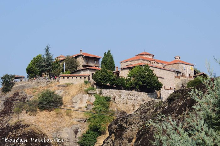 The Holy Monastery of Great Meteoron seen from Mon. of Varlaam