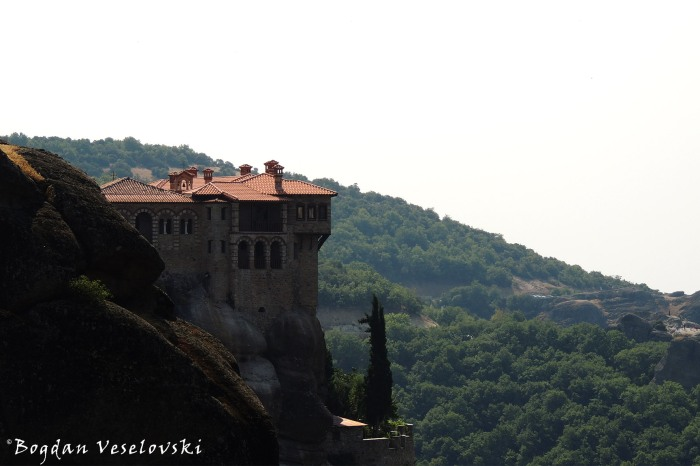 The Holy Monastery of Varlaam seen from Meteoron