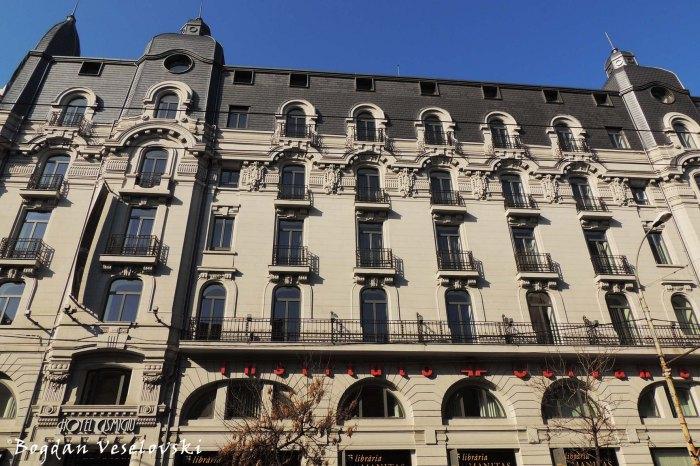 38, Elisabeta Blvd. - Palace Hotel - today Cismigiu Hotel, Gambrinus Beer Hosue, Cervantes Institute, Bucharest (Art Nouveau style)