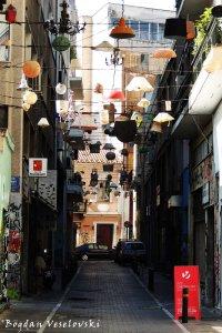 Pittaki lampshade street, Athens
