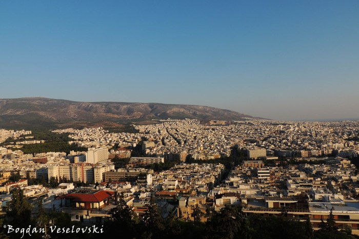 View of Athens from Mount Lycabettus