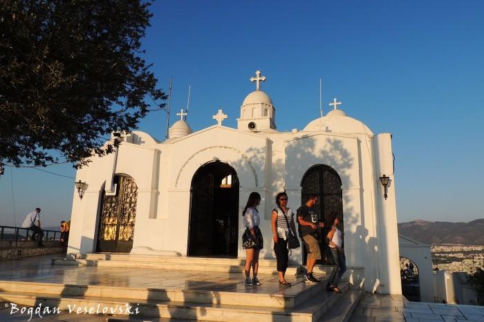 Το εκκλησάκι του Αγίου Γεωργίου στην κορυφή (Chapel of St. George on top, Athens)