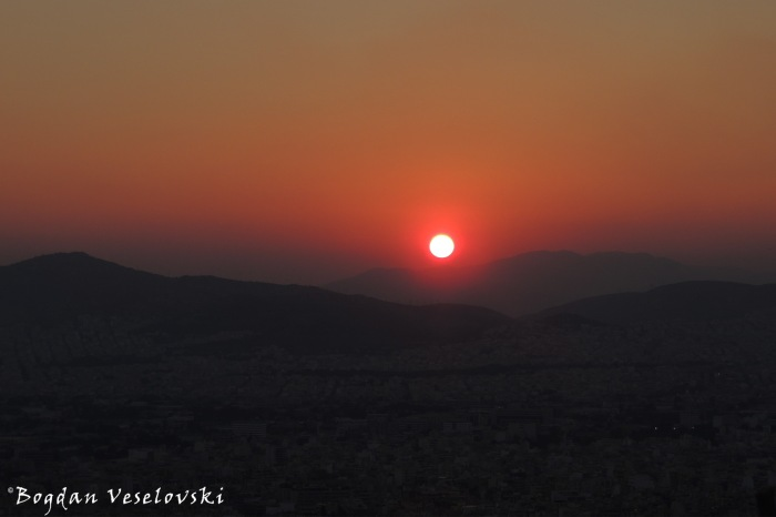 Sunset over Athesn