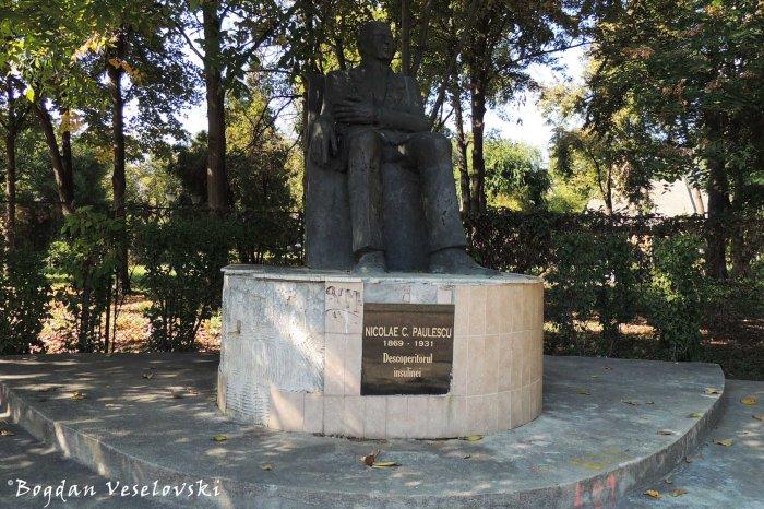 Monumentul lui Nicolae C. Paulescu, descoperitorul insulinei (Monument to Nicolae C. Paulescu, insulin discoverer)