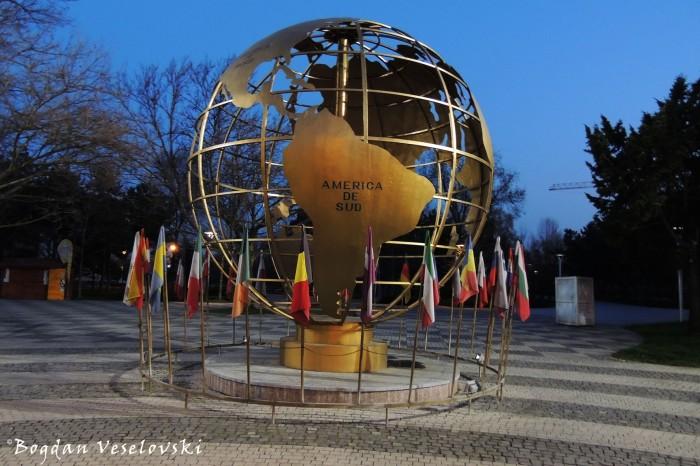 World Globe in front of Titan Park / IOR Park / Alexandru Ioan Cuza Park