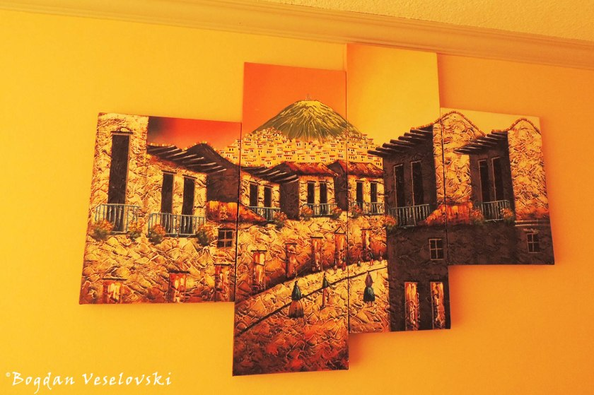 Quito on the wall
