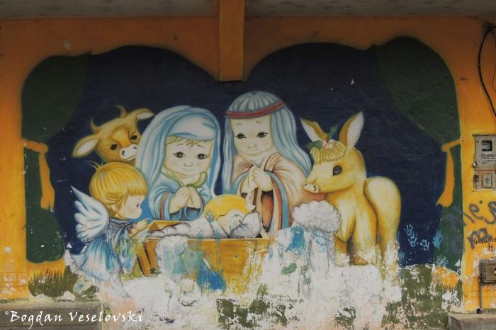 Baby Jesus graffiti