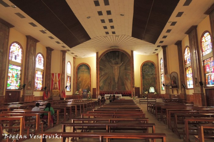 Interior of the Church of Our Lady of Macas
