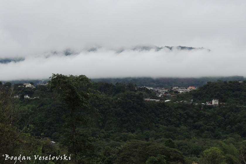 Macas under clouds