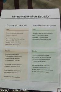 National anthem of Ecuador (Quechua & Spanish)