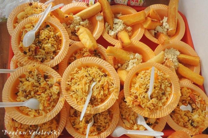 Rice & yuca (cassava) bowls