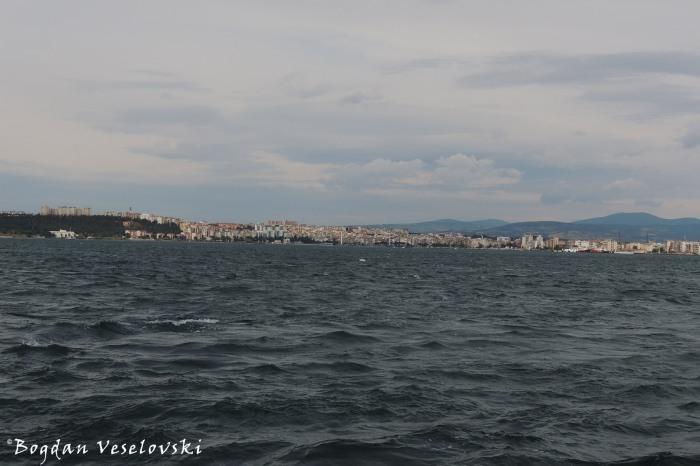Çanakkale seen from the ferry