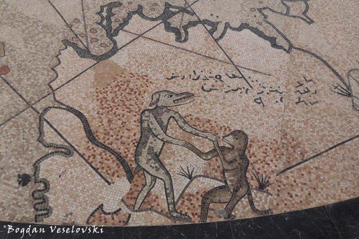 Piri Reis map - Mythical creatures