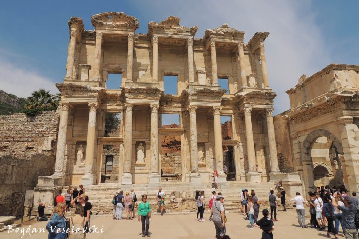 Facade of the Library of Celsus & The Gate of Mazeus and Mythridates