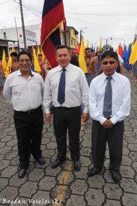 Marcelo Macas, Alcides Chuva & Dionisio Guaman