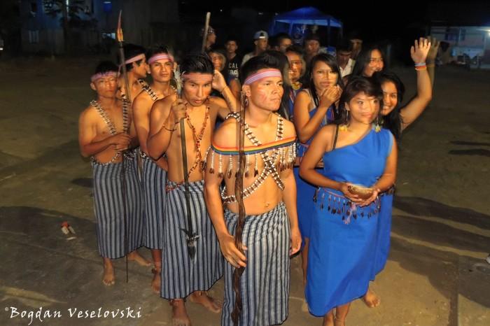 Shuar dancers