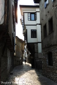Cobblestone narrow street in Ohrid