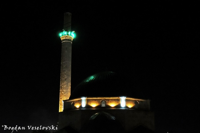 Sinan Pasha Mosque by night