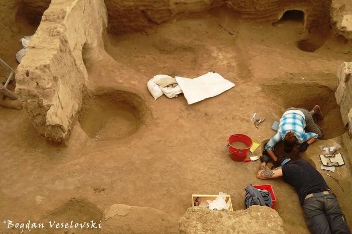 Digging at Çatalhöyük