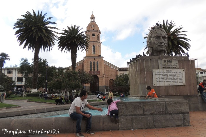 Church of San Luis & Rumiñahui Monument