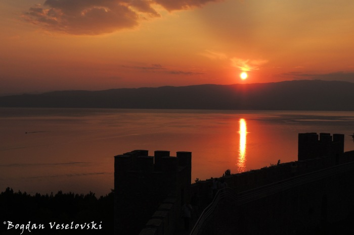 Sunset seen from the fortress