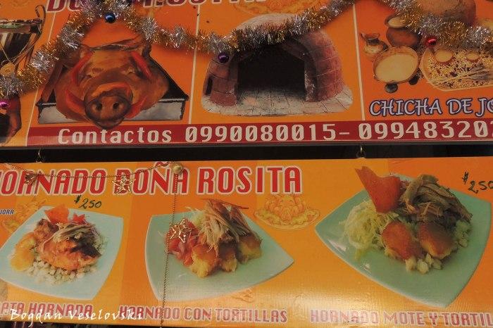 Cotacachi food
