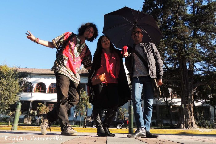 In front of the House of Ecuadorian Culture