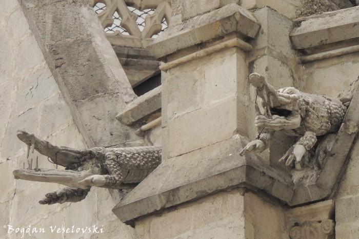 Crocodile gargoyles