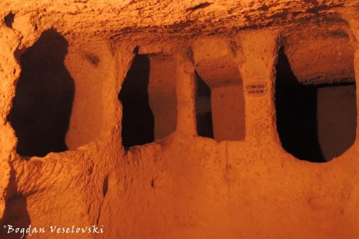 Kaymaklı underground city - Oturma odasi (living room)