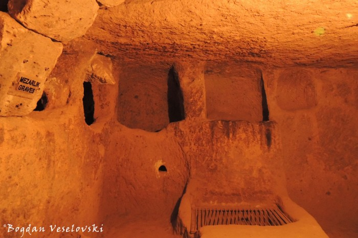 Kaymaklı underground city - Mezarlik (graves)