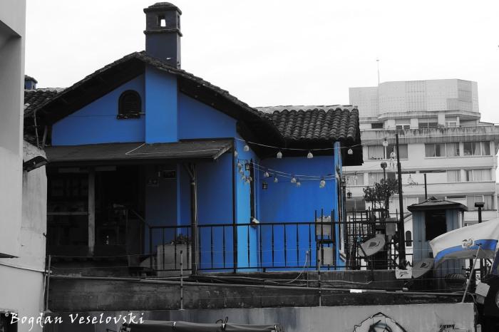 Blue house on Diego de Almagro