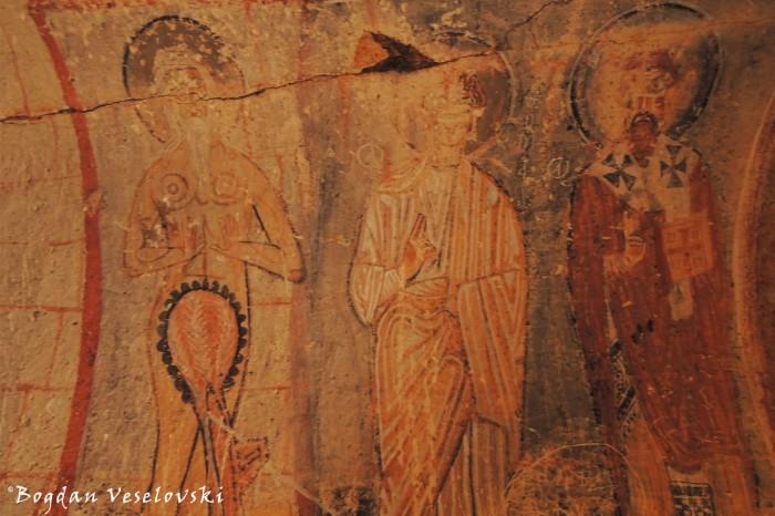 St. Onuphorius, Thomas & Basil, Chapel of St. Onuphorius, Göreme Yĭlanlĭ Kilise (Snake Church)