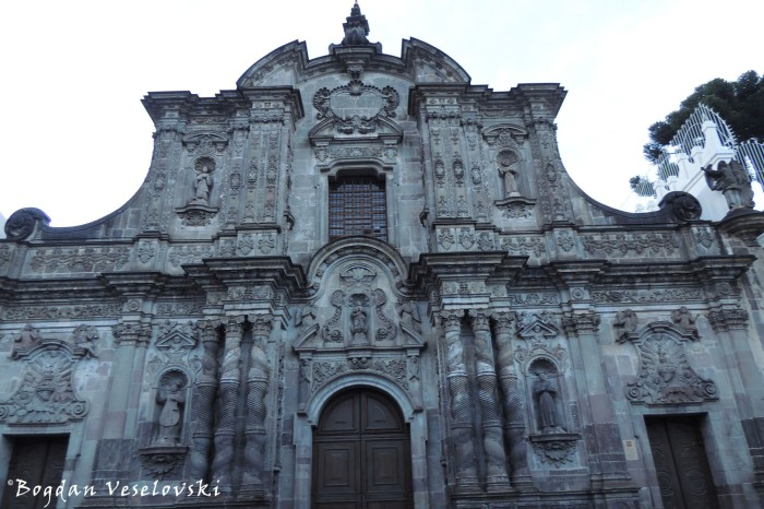 The Church of the Society of Jesus - gray volcanic stone facade, 17-18 centuries, Baroque style