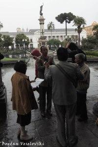 Musicians in Plaza Grande